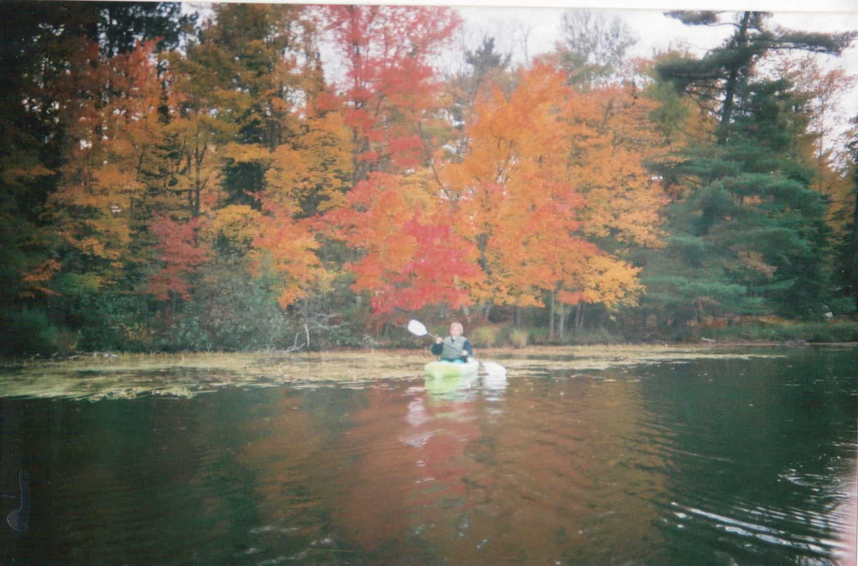 Fall color Amy kayak
