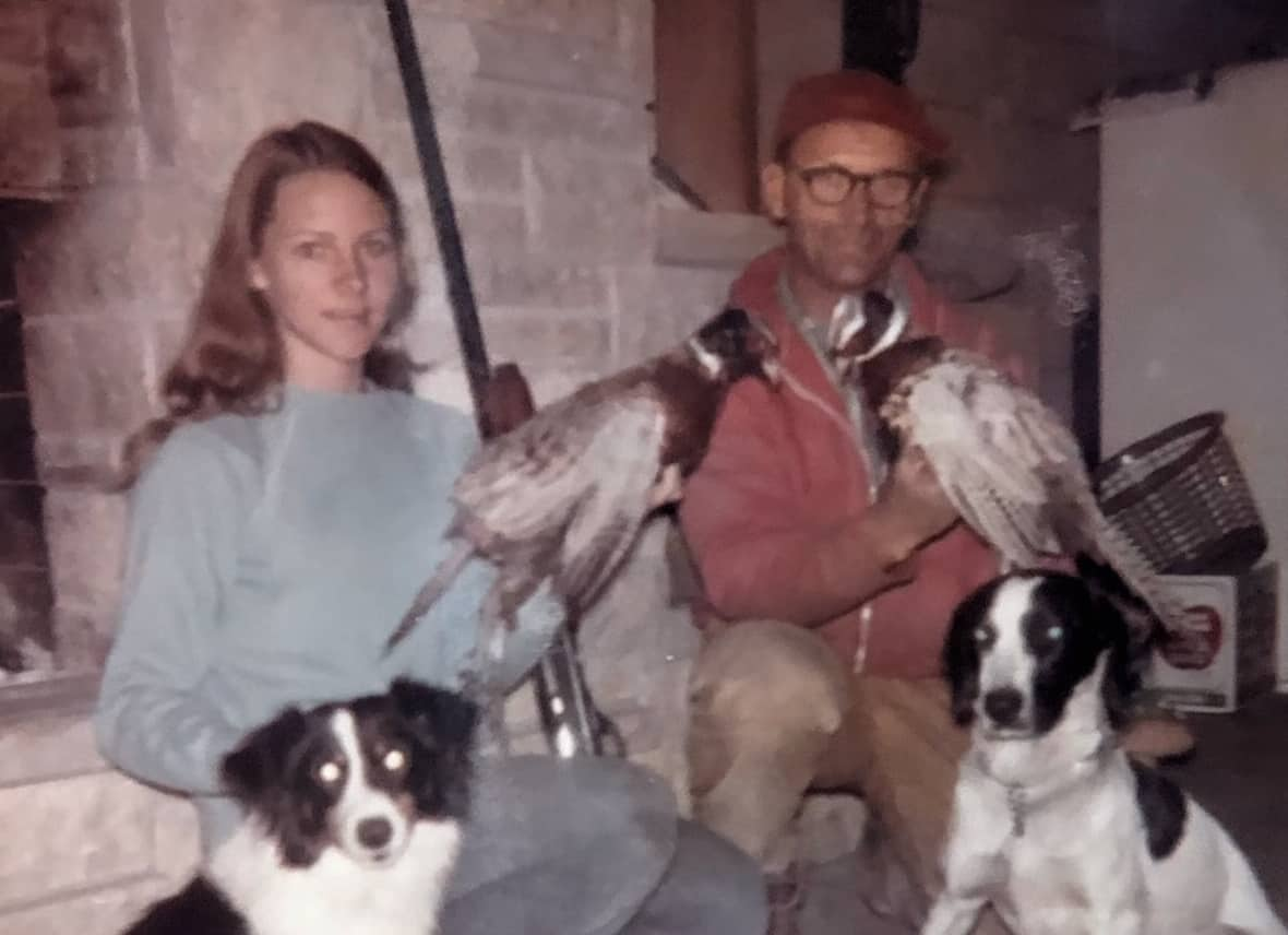Amy, Dad, pheasants, dogs (2)
